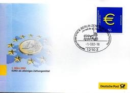 ALLEMAGNE     FDC 2002 Euro Monnaie Char - Münzen