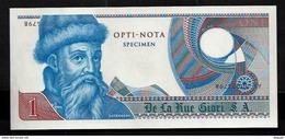 """Echantillon DE LA RUE """"Gutenberg - Type C"""" Testnote, Mit Intaglio, Eins. Druck, RRR, UNC, SPECIMEN - Banknoten"""