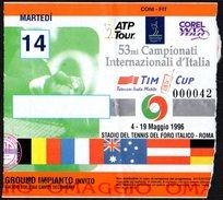 ITALIA ROMA STADIO DEL TENNIS FORO ITALICO 1996 - 53^ CAMPIONATI INTERNAZIONALI D'ITALIA - TICKET INGRESSO 14/05/1996