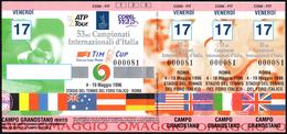 ITALIA ROMA STADIO DEL TENNIS FORO ITALICO 1996 - 53^ CAMPIONATI INTERNAZIONALI D'ITALIA - TICKET INGRESSO 17/05/1996