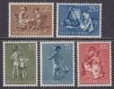 Nederland 1954 NVPH 649-653 Kinderzegels Postfris (MNH) - Neufs