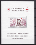 Monaco Bloc N° 15 ** Croix Rouge 1978 Hommage à Henry Dunant