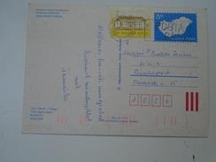 D149788 HUNGARY-Entier Postal Stationery -  Dark Blue  Font  With White Map  5  Ft  Stamp  Nr.852/911 Easter Eggrabbit