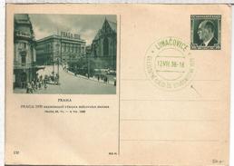 CHECOSLOVAQUIA ENTERO POSTAL PRAHA MAT LUNACOVICE 1938 ESTUDIANTES