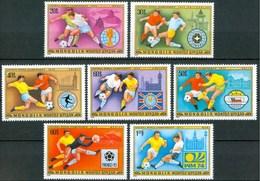 """1978 Mongolia """"Argentina 78"""" Coppa Del Mondo World Cup Coupe Du Monde Calcio Football Set & Block MNH** Lux231-12"""