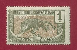 Congo - 1 C - 1907 - Congo Francés (1891-1960)