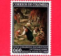 Nuovo - MNH - COLOMBIA - 1968 - 39° Congresso Eucaristico - The Gathering Of Manna Di G.Vasquez - 0.60