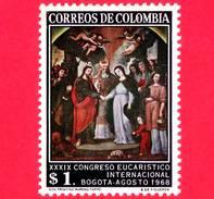 Nuovo - MNH - COLOMBIA - 1968 - 39° Congresso Eucaristico - Il Matrimonio Della Vergine, Di B.de Figueroa - 1.00