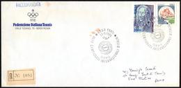 TENNIS - ITALIA ROMA 1986 - XLIII CAMPIONATI INTERNAZIONALI D´ITALIA - RACCOMANDATA CON ANNULLO 18.05.1986