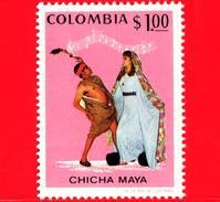 Nuovo - MNH - COLOMBIA - 1971 - Abiti E Costumi - Danza - Musica - Chicha Maya - 1.00