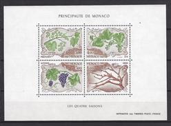 Monaco Bloc N° 38 ** 1987 Les Quatre Saisons