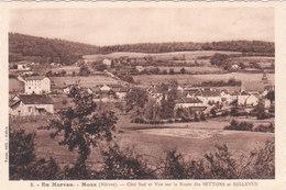 Carte Postale Ancienne De La Nièvre - Moux - Panorama (Côté Sud-Ouest) - Autres Communes