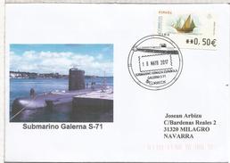ESPAÑA CC CON MAT SUBMARINO ARMADA GALERNA S-71