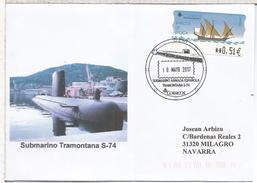 ESPAÑA CC CON MAT SUBMARINO ARMADA TRAMONTANA S-74