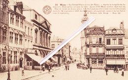 MONS - La Grand'Place Et La Rue De Nimy