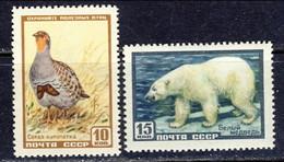 USSR 1957, Mi 2027-2028** - Wild Life