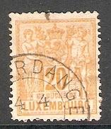 004312 Luxemburg 1882 20c FU Perf 13.5