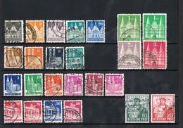 1948 German   AMERIKANISCHE&BRITISCHE ZONE (1948 German Buildings I II III ) USED VALUE € 70,00