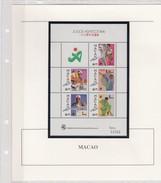 MACAO- MACAU  - BLOC 1990 N°15 - JOGOS ASIATICOS 1990  - MNH**  AVEC COMMENTAIRES / TBS