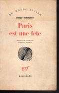 Hemingway - Paris Est Une Fête - Gallimard 1964 - Roman - Relié - Non Classés