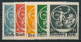 D. Reich Nr. 134-138 * ~ Michel 26,-- Euro