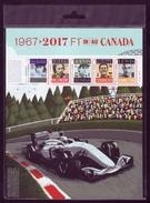 Canada 2017 F1 Stewat Villeneuve Senna Schumacher Hamilton Souvenir Sheet Block Stamps In Post Office Package A04s