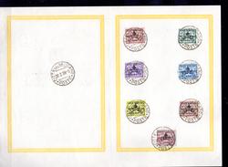 1938   SEDE VACANTE, 85 A / 85 G Sur Feuillet, Cote 17,50 €,