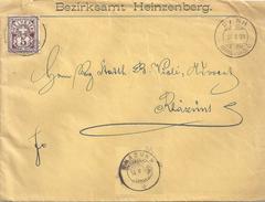 """Motiv Brief  """"Bezirksamt Heinzenberg""""  Sarn - Rhäzüns            1898"""