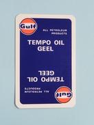 TEMPO OIL GEEL GULF / Schoppen 2 ( Details - Zie Foto´s Voor En Achter ) !! - Cartes à Jouer Classiques