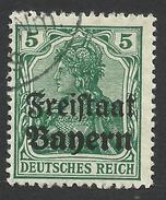Bavaria, 5 Pf. 1919, Sc # 178, Mi # 138, Used. - Bavière