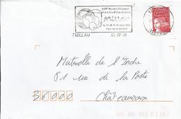 17ème Mondial De Pétanque : Flamme De Millau (9-07-98) Sur Enveloppe Entière