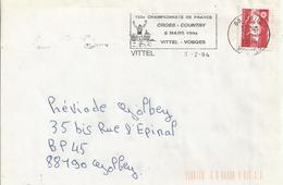105e Championnats De France De Cross-country (1994) : Flamme De Vittel Sur Enveloppe Entière