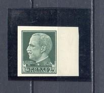 REGNO D´ITALIA 1929 VITT. EMANUELE III 25 Cent FALSO DI GUERRA  IG248a RR MNH**