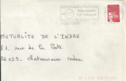 Départ De La 13ème étape Du Tour De France 1998 : Flamme De Frontignan Sur Enveloppe Entière