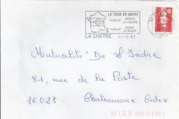 Le Tour De France 1997 En Berry : Flamme De La Châtre Sur Enveloppe Entière
