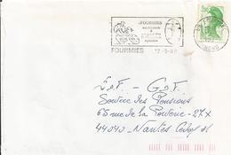Grand Prix Cycliste : Flamme De Fourmies (1989) Sur Enveloppe Entière