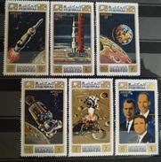 TS29 - Ajman Manama 1971 Mi. 578-583 Complete Set 6v. MNH - Space Apollo 15 Mission - Manama