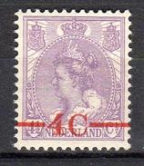 1921 4 On 4½ Cents MNH Very Fine Original Gum (287) - Periode 1891-1948 (Wilhelmina)