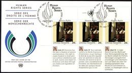 ONU UNITED NATIONS NEW YORK / GENEVA / VIENNA 1992 - HUMAN RIGHTS - 6 FDC