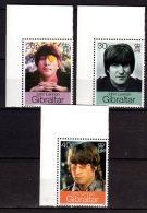 1999 Gibraltar -John Lennon- Paper - 3v - MNH** - Muziek