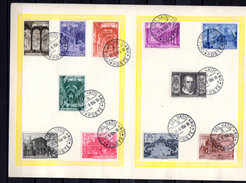 1949    églises Et Basiliques Romaines Sur Feuille, 140  / 149 + Ex 11 / 12, Cote 58,50 €,