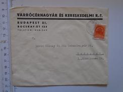 D149813  Hungary    Cover  - Varrocérnagyar és Ker. RT.  Budapest   Ca 1940