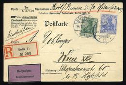 GERMANY Registered Postcard To Viena