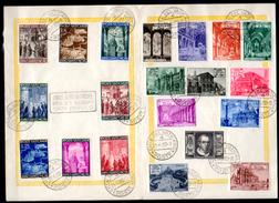 1949-50    églises Et Basiliques Romaines Et Année Sainte Sur Feuille,140 /149 + Ex 11/12 + 150/157, Cote 64,50 €