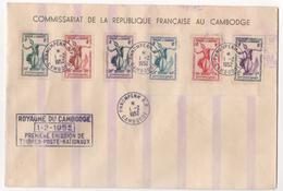 LETTRE DE 1952 PREMIERE EMISSION DES TIMBRES NATIONAUX