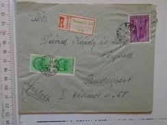 D149816  Hungary   Registered  Cover   Budapest  1942