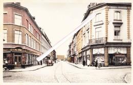 MONS - Rue Rogier - Carte Couleur Avec La Gare Reconstruite Dans Les Années Après La 2é Guerre.