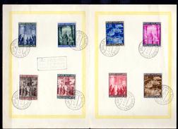1950    Année Sainte Sur Feuille Avec Cachet Année Sainte, 2 X  150 / 157, Cote 12