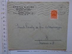 D149819  Hungary    Cover  - Oprics Miklos Vizvezeték Szerelo épület Badogos  Budapest  -1942