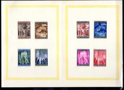 1950    Année Sainte Sur Feuille 150 / 157* + Ob,  Cote 12 €,
